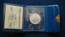 1974 Italy  silver coin 500 £ UNC Marconi Radio perfect closed in box