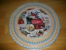 New Handmade Round Crochet Doily--Travel/Cruise/Luggage