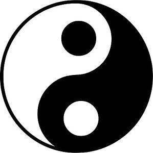 Yin Yang Symbol Vinyl Sticker Decal Tao Buddha Spiritual - Choose Size & Color