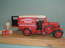 1931 BUDWIESER FORD PANEL DELIVERY TRUCK DANBURY MINT 1:24 DIECAST WITH DISPLAY