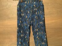Lularoe Girls Size L/XL leggings Christmas STOCKINGS Design BLUE TURQUOISE NEW