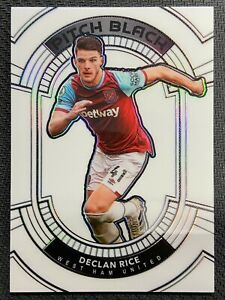 2020-21 PANINI OBSIDIAN SOCCER DECLAN RICE PITCH BLACK CONTRA 5/9 WEST HAM