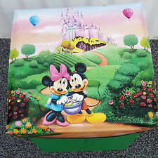 Mickey Minnie Mouse Clubhouse Kids Storage Ottoman Seat Bedroom Stool Toys Box G