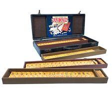 Bakelite Mahjong Set In Leather Case / Box / Antique Game / Mah Jong