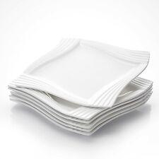 MALACASA, Serie Amparo, 6 tlg. Set Porzellan Kuchenteller Dessertteller 20,5CM