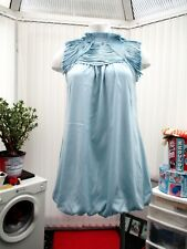 """""""cotton club""""  pale blue cocktail dress  b.n.w.t. fully lined sz 10"""