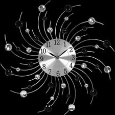 NEU Wanduhr Moderne Küchen Wanduhr Küchenuhr Designer Quartz Uhr Bürouhr silber