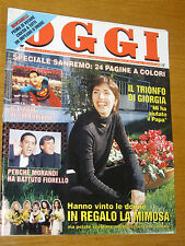 OGGI 1995/10=GIORGIA TODRANI FESTIVAL SANREMO=KHALED HADJ BRAHIM=SILVIO BERTOLDI