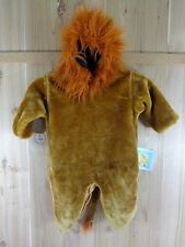 PLUSH LION COSTUME Toddler Size 2T Brown Hood Head Pull Over Leg Snaps