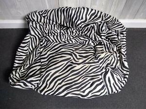 Big Joe Beanbag Dorm Chair Smartmax Zebra Print