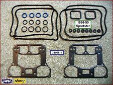 Full Rocker Box Gasket Kit, Steel base gaskets, 1986-90 Sportster, ref. 17030-89