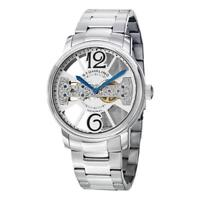 Stuhrling 785B 01 Winchester County Mechanical Bridge SS Bracelet Mens Watch