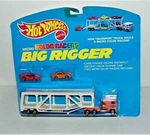 HOT WHEELS BIG RIGGER Micro COLOR RACERS NEW ON CARD 1980 Rig 1989 Card