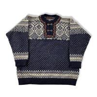 Devold Norway Pullover Gr. XL Herren Wolle Norweger classic Muster BN7