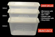 SATCO Plastic Containers Clear Tubs and Lids Takeaway Food Box
