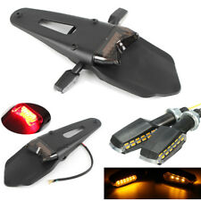 3in1 Motorcycle Rear Light Turn Signal Fender Assemblies Universal Enduro Bike