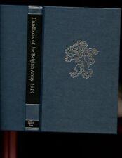 HANDBOOK OF THE BELGIAN ARMY, 1914.   Battery pr, r/p HB NEW
