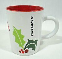 Christmas Starbucks Coffee Mug Cup Holly And Berries 9 Ounces 2011