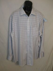Jospeh Abboud 100% Cotton 3XLT 20 Neck 36/37 Slve Gray Check Dress Shirt