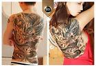 3 pcs Large Big Temporary Tattoo Sticker Full Back Dragon Pattern Body Art Decal