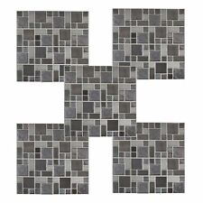 Clever Tiles Stick On Black Grey Silver Glitter Bathroom  24 HOUR SALE £19.99