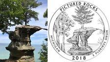 2018 P&D Pictured Rocks National Lakeshore National Park Quarter MI USMint Coins
