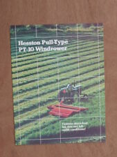 Hesston Pull Type Windrower , Mower Conditioner Brochure