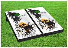 VINYL WRAPS Cornhole Boards DECAL Hawaiian Bag Toss Game Stickers 471
