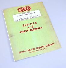CARCO MODEL E WINCH SERIES 24 SERVICE & PARTS MANUAL MOUNTING INSTRUCTIONS