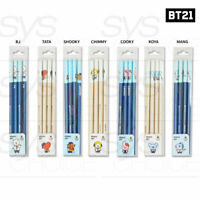 BTS BT21 Official Authentic Goods Triangular Pencil 4pcs + Tracking Number