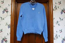 NWT Ralph Lauren Sport Womens V - Neck Sweater Size L Blue