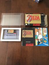 The Legend of Zelda: A Link to the Past Super Nintendo SNES COMPLETE Box+Map+