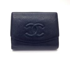Authentic CHANEL Black Caviar Bifold Purse Wallet