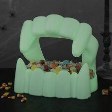 Hallmark Vampire Teeth Fangs Candy Bowl Glow in the Dark Dish Halloween 2020 NEW