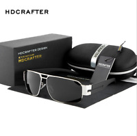 HDCRAFTER Mens Metal Polarized Sunglasses Sports Driving Outdoor Glasses New