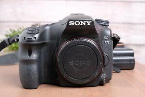 Sony Alpha a77ii ILCA-77M2 24.3MP Digital SLR Camera w/Battery, Strap, Charger