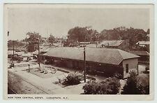 Orig Postcard NYC Depot Station - Canastota NY 1915 RR New York Central Railroad