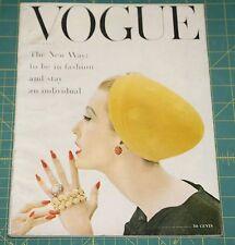 September Vogue 1955 Rare Vintage Vanity Fair Fashion Design Collection Magazine