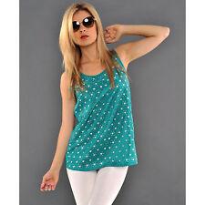 Markenlose Mehrfarbige Ärmellose Damenblusen,-Tops & -Shirts ohne Mehrstückpackung