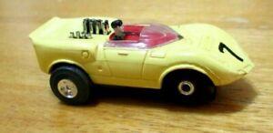 Aurora Model Motoring T Jet #1377 Chaparral #7 Yellow 1966-1972 Thunderjet