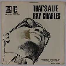 RAY CHARLES: That's A Lie USA ABC Tangerine R&B SOUL 45 w/ PS