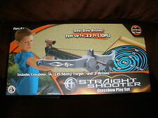 """NEW Straight Shooter CROSSBOW PLAY SET w/ 14"""" TARGET & ARROWS"""