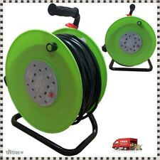 50M METER EXTENSION REEL LEAD CABLE 4 WAY ELECTRIC SOCKET HEAVY DUTY