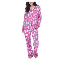 8e81609d6d Munki Munki Pajamas for Women Classic Flannel PJ Set Long Sleeve Pink M