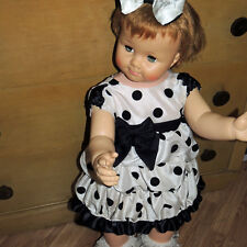 SWEET POLKA DOT VINTAGE PARTY DRESS FITS SAUCY WALKER PENNY PATTI PLAY PAL DOLLS