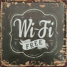 Quality Wifi Free Vintage Metal Tin Sign Bar Pub Shop Wall Tavern Poster Decor