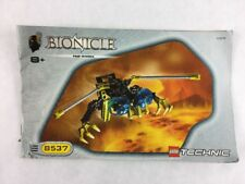 Lego Technic Bionicle Nui-Rama - Set 8537 Instructions / Manual / Only