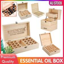 LONENESSL Aromatherapy Essential Oil Storage Box Wooden Case Container Holder AU