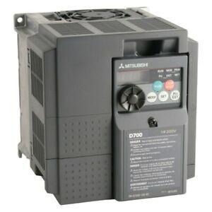 1.5KW / 2.0HP MITSUBISHI ELECTRIC D700 SINGLE TO 3PH INVERTER FR-D720S-070SC-EC