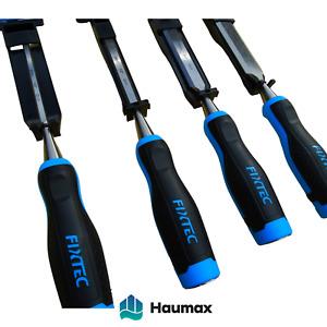 Haumax CR-V Holzmeißel Stechbeitel Set 6mm 12mm 19mm 25mm für Holzbearbeitung